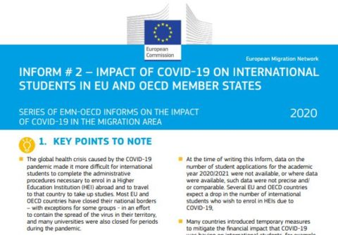 Impact of COVID-19 on International Students in EU and OECD Member States