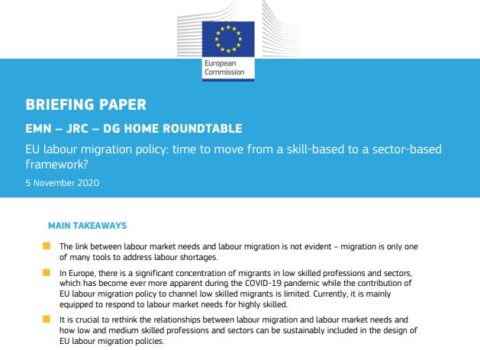 Roundtable on EU labour migration policy - EMN, JRC and DG HOME