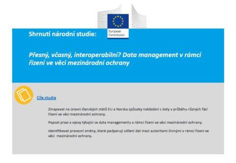 Shrnutí národní studie: Přesný, včasný, interoperabilní? Data management v rámci řízení ve věci mezinárodní ochrany - Česká republika