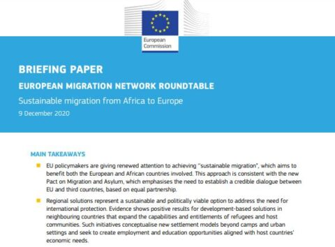 Roundtable on Sustainable migration from Africa to Europe