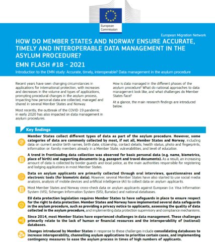 Accurate, timely, interoperable? Data management in the asylum procedure (flash)