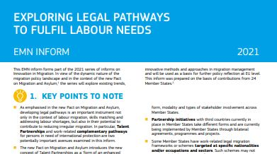 Exploring legal pathways to fulfil labour needs